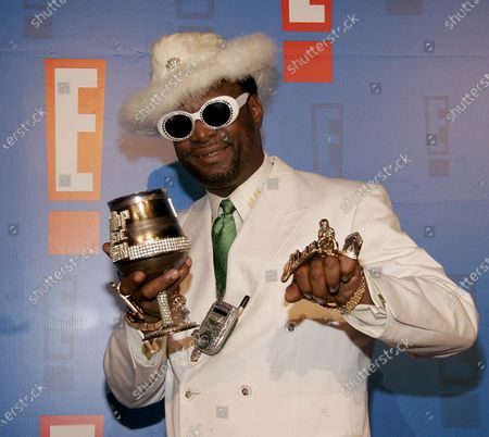 The Bishop Don Magic Juan arrives at E! Entertainment Television's Summer Splash Event at Amanda Scheer Demme's Tropicana Bar at the Roosevelt Hotel in Hollywood, CA