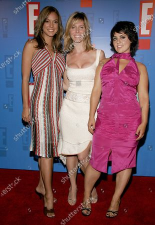 Stock Picture of Eva La Rue, Jane Buckingham and Claudia Jordan of The Modern Girls Guide to Life arrive at E! Entertainment Television's Summer Splash Event at Amanda Scheer Demme's Tropicana Bar at the Roosevelt Hotel in Hollywood, CA