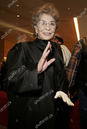 Stock Image of Jean Simmons arrives at The 23rd Annual Golden Boot Awards Ceremony presented by The Motion Picture & Television Fund held at the Beverly Hilton Hotel in Beverly Hills, CA