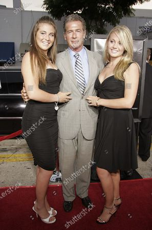 Jack Scalia with daughters, Jacqueline Scalia and Olivia Scalia arrive at the Red Eye Premiere at the Mann Bruin Theater in Westwood, CA