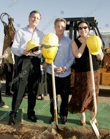Stephen Collins, Dustin Hoffman and Shelley Morrison Break Ground for the new Visual and Performing Arts Complex at the Madison Project site in Santa Monica, CA