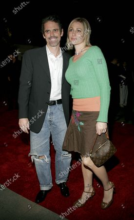 Stock Photo of C. Thomas Howell with wife, Sylvie Anderson attend the Hallmark Channel gathering for NCTA participants at the Ebell Club in Los Angeles, CA
