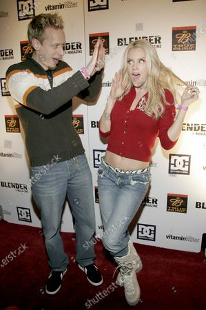 Stock Image of Jenny McCarthy with husband, John Asher at Sundance 2005 - Day 1 Blender Sessions at Harry O's in Park City, Utah