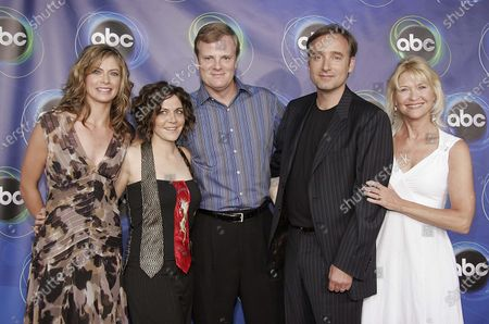 Gillian Vigman, Alison Quinn, Jerry Lambert, Fred Goss and Dee Wallace of Sons & Daughters attend the 2005 ABC Television Network Hosts Annual Summer Press Party Tour at The Abby in West Hollywood, CA