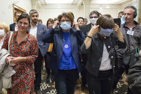 Martine Aubry reelected Mayor of Lille at  the second round of the municipal elections in Lille, France, on 28 June 2020.   Martine Aubry est reelue maire de Lille lors du second tour des elections municipales a Lille, France, le 28 juin 2020.