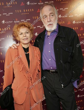 """Howard Hesseman with wife, Caroline Ducrocq at the Ted Baker London Celebration of his first Los Angeles """"Best In Show"""" Store along with Best Friends Animal Society Charity and Pet Adoption Benefit on Robertson Boulevard in Los Angeles, CA"""