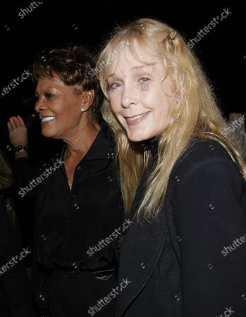 "Dionne Warwick and Stella Stevens arrive at David Gest and Dionne Warwick's ""The Party"" at The Beverly Hills Hilton in Beverly Hills, CA"