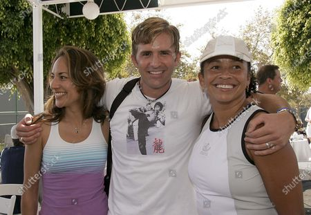 Michelle Bonilla of ER, Dr.Robert Rey of Dr. 90210 and Rae Dawn Chong at Raquet Rumble 2005 held at the Riviera Tennis Club in Pacific Palisades, CA