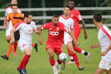 Standard's Mehdi Carcela pictured in action during a friendly soccer game between Standard de Liege and Waremme, Wednesday 01 July 2020 in Liege.