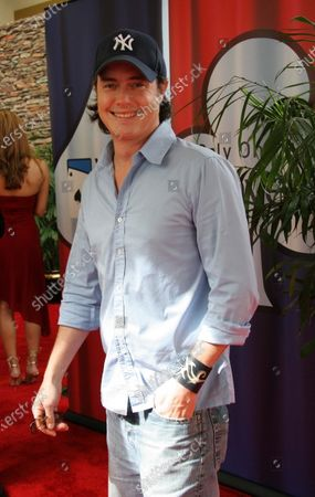 """Jeremy London from tv's """"7th Heaven""""  arrives at the World Poker Tour Invitational celebrity poker match at the Commerce Casino in Commerce, CA."""