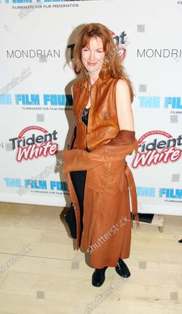 """Kathleen York, from tv's """"The West Wing,"""" attends the Trident White """"Black & White"""" Party in support of The Film Foundation, a non-profit film preservation organization led by Martin Scorsese, at the Sky Bar of the Mondrian Hotel in West Hollywood, CA."""