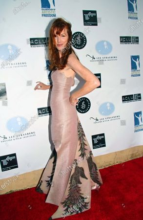 """Kathleen York, of the hit tv show """"The West Wing"""", arrives at the 3rd Annual """"Celebration of Artistic Freedom Fundraiser,"""" hosted by the City of West Hollywood and the Lee Strasberg Theater & Film Institute and benefiting Amnesty International USA and the ACLU Foundation of Southern California at Robert De Niro's restaurant, Ago, in West Hollywood, CA."""