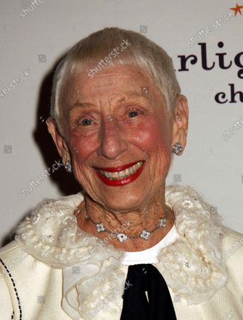 Leah Adler, mother of film director Steven Spielberg, arrives at the Starlight Starbright Children's Foundation Gala in Honor of Chairman Emeritus, Steven Spielberg at The Beverly Hilton Hotel in Beverly Hills, CA.