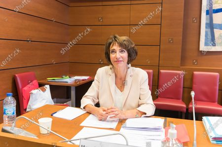 Former French Health and Social Affairs Marisol Touraine during her audition by the Parliament Commission investigating the coronavirus crisis response at the French National Assembly.