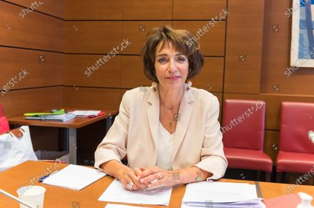 Stock Picture of Former French Health and Social Affairs Marisol Touraine during her audition by the Parliament Commission investigating the coronavirus crisis response at the French National Assembly.