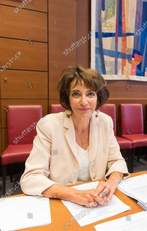 Editorial photo of Touraine during her audition by the Parliament Commission investigating the coronavirus crisis response, Paris, France - 01 Jul 2020