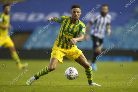 Kieran Gibbs of West Bromwich Albion   during the EFL Sky Bet Championship match between Sheffield Wednesday and West Bromwich Albion at Hillsborough, Sheffield