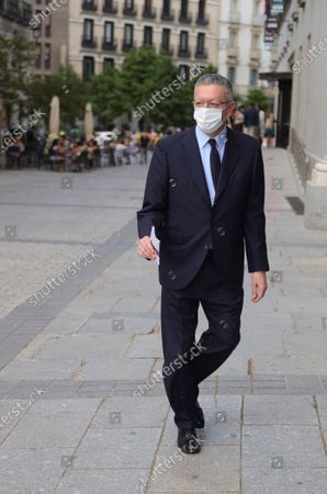 Spanish former Minister of Justice and Madrid's former Mayor Alberto Ruiz-Gallardon arrives at Royal Opera House to attend the premiere of 'La Traviata' in Madrid, Spain, 01 July 2020. Royal Opera House reopens with the premiere of 'La Traviata' opera under security measures due to coronavirus pandemic.