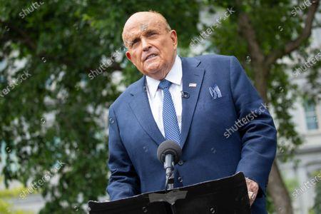 Giuliani Speaks to the Media, Washington DC