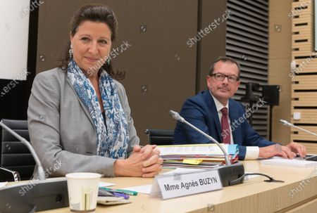 Stock Image of Agnes Buzyn and Raymond Le Moign