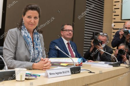 Stock Photo of Agnes Buzyn and Raymond Le Moign
