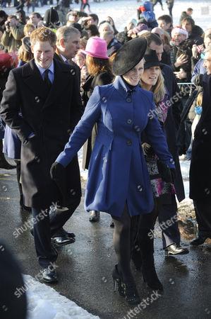 Prince Harry, Zara Phillips and Autumn Phillips