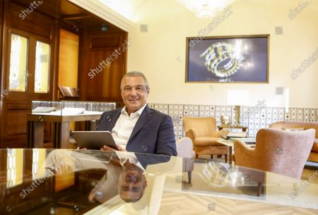 Stock Photo of Bulgari's CEO Jean-Christophe Babin is portrayed during an interview with Associated Press in the Domus museum located in the luxury brand store in Via Condotti, downtown Rome