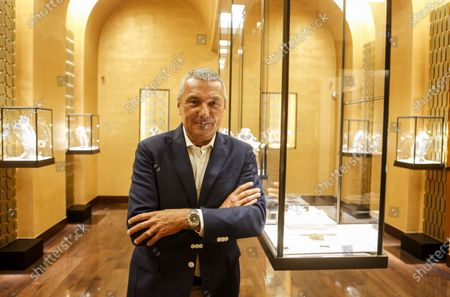 Stock Image of Bulgari's CEO Jean-Christophe Babin is portrayed during an interview with Associated Press in the Domus museum located in the luxury brand store in Via Condotti, downtown Rome