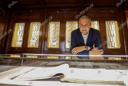Bulgari's CEO Jean-Christophe Babin is portrayed during an interview with Associated Press in the Domus museum located in the luxury brand store in Via Condotti, downtown Rome
