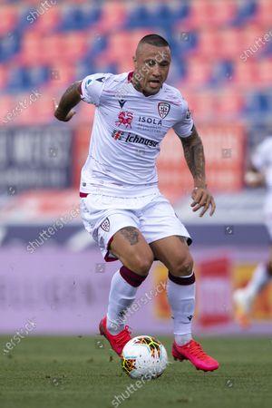 "Radja Nainggolan (Cagliari)           during the Italian ""Serie A"" match between Bologna 1-1 Cagliari at Renato Dall Ara Stadium on July 01 , 2020 in Bologna, Italy."