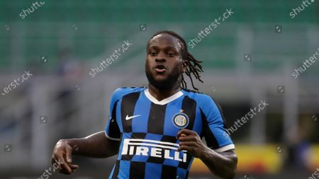 Inter Milan's Victor Moses runs during a Serie A soccer match between Inter Milan and Brescia at the San Siro stadium in Milan, Italy