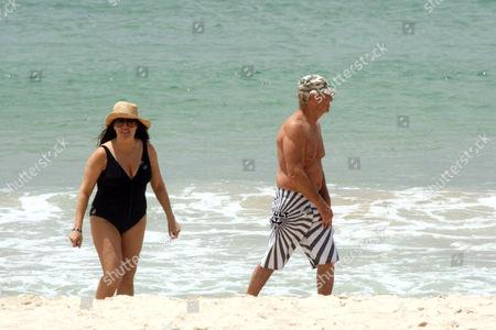 Editorial image of Paul  Hogan and wife at Byron Bay, Australia - 26 Dec 2009