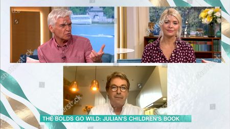 Stock Image of Phillip Schofield, Holly Willoughby, Julian Clary