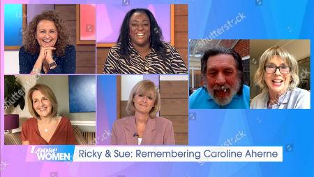 Stock Image of Nadia Sawalha, Judi Love, Kaye Adams, Jane Moore, Ricky Tomlinson, Sue Johnston