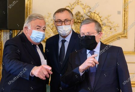 Gerard Larcher, Jean-Marie Boeckel and Philippe Bas.