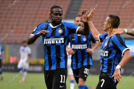 Victor Moses of FC Internazionale, Alexis Sanchez of FC Internazionale, Lautaro Martinez of FC Internazionale