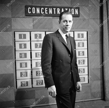 "Host Hugh Downs on the set of the game show ""Concentration"" in National Broadcasting Company Studio in New York. Downs, a genial and near-constant presence on television from the 1950s through the 1990s, has died. His family said Downs died of natural causes, in Scottsdale, Ariz. He was 99. Downs was a host of the 'Today' show on NBC, worked on the 'Tonight' show when Jack Paar was in charge, and hosted the long-running game show ""Concentration"