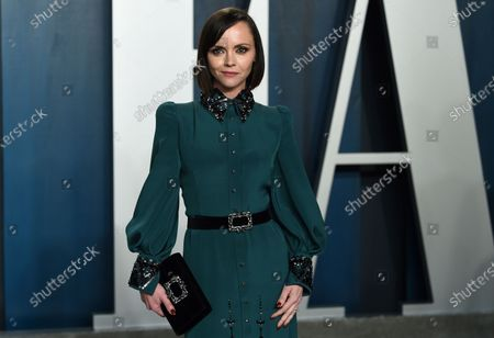 Christina Ricci arrives at the Vanity Fair Oscar Party in Beverly Hills, Calif. The actress has filed for divorce from her husband of nearly seven years. Ricci filed documents in Los Angeles County Superior Court on Thursday to dissolve her marriage with James Heerdegen
