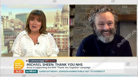 Lorraine Kelly and Michael Sheen