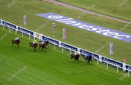 Summer Romance ridden by William Buick (right) wins the Princess Elizabeth Stakes at Epsom Racecourse. PA Photo. Issue date: Saturday July 4, 2020. See PA story RACING Epsom. Photo credit should read: David Davies/PA Wire