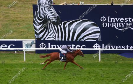 Serpentine ridden by Emmet McNamara wins the Investec Derby at Epsom Racecourse. PA Photo. Issue date: Saturday July 4, 2020. See PA story RACING Epsom. Photo credit should read: David Davies/PA Wire