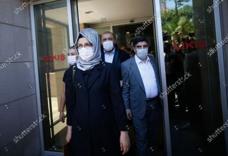 Hatice Cengiz, the fiancee of slain Saudi journalist Jamal Kashoggi, walks outside a court in Istanbul, where the trial in absentia of two former aides of Saudi Crown Prince Mohammed bin Salman and 18 other Saudi nationals over the 2018 killing of the Washington Post columnist had began. Turkish prosecutors have indicted the 20 Saudi nationals over Khashoggi's grisly killing at the Saudi Consulate in Istanbul that cast a cloud of suspicion over Prince Mohammed and are seeking life prison terms for defendants who have all left Turkey. Saudi Arabia rejected Turkish demands for the suspects' extradition and put them on trial in Riyadh