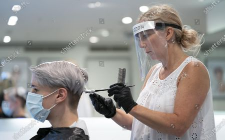 Editorial image of Britain Manchester Covid 19 Hairdressers Reopening Preparation - 02 Jul 2020