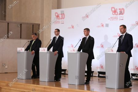 Editorial image of Visegrad Group prime ministers meeting in Warsaw, Poland - 03 Jul 2020