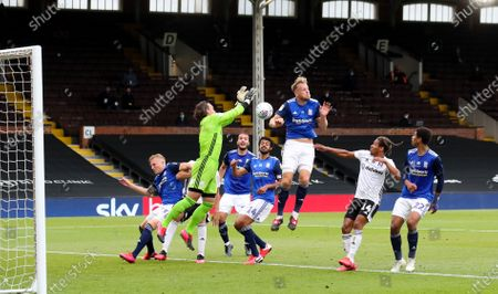 Lee Camp goalkeeper of Birmingham City  loses control of a ball into the box