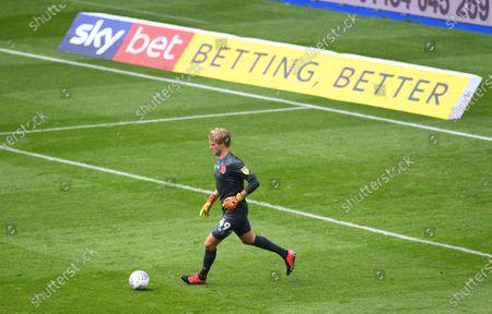 Jonas Lossl goalkeeper of Huddersfield Town