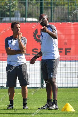 Patrick Vieira (entraineur de l OGC Nice) - Nice' players during a training session of French soccer club OGC Nice