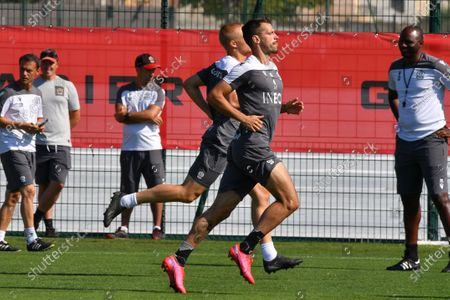 Morgan Schneiderlin - Nice' players during a training session of French soccer club OGC Nice
