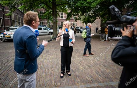 Stock Image of Minister Sigrid Kaag for Foreign Trade and Development Cooperation (D66) upon arrival at the Binnenhof in front of the Council of Ministers, in The Hague, The Netherlands, 03 July 2020.
