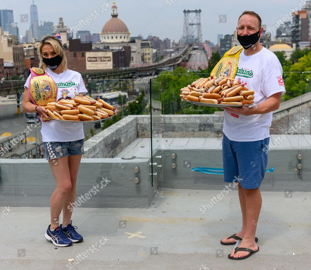 Nathan's Famous Hot Dog Eating Contest Weight-In, New York